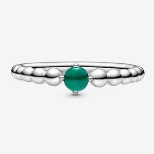 Authentic 925 Pandora Birthstone Ring 💚